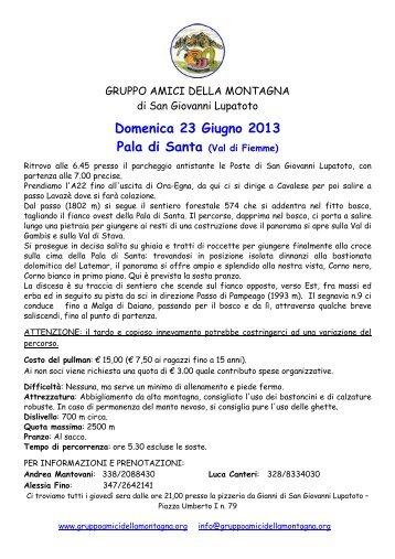 apri l'originale in PDF - Gruppo Amici della Montagna San Giovanni ...