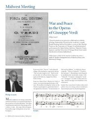 War and Peace in the Operas of Giuseppe Verdi
