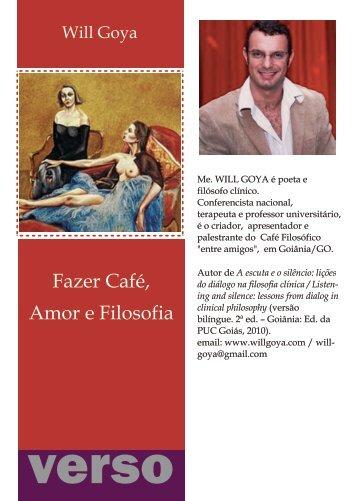 Fazer Cafe, Amor e Filosofia - Instituto Packter