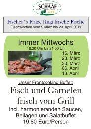 Muschel- Fischfllyer - Landhaus Schaaf