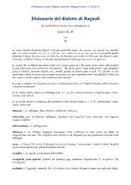 Dizionario del dialetto di Bagnoli Irpino - Palazzo Tenta 39