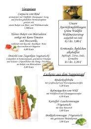 Lauchgemüse und Butterkartoffeln 14,80 Euro ... - Landhaus Schaaf