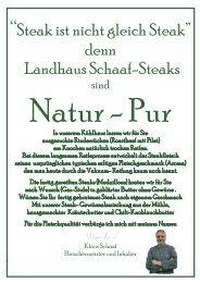 Steakkarte neu - Landhaus Schaaf