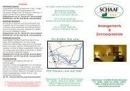 Arrangements & Zimmerpreisliste  - Landhaus Schaaf