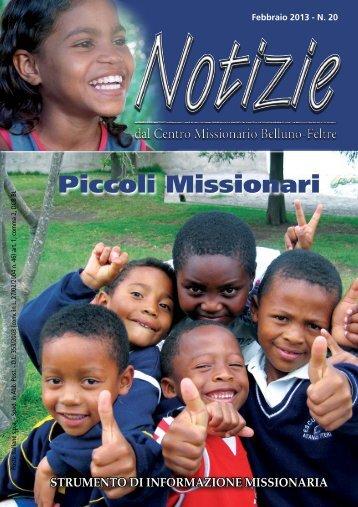 Notizie 20 - Centro missionario diocesano Belluno-Feltre - Diocesi