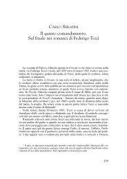 Il quinto comandamento. Sul finale nei romanzi di Federigo Tozzi