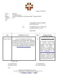 Regione Marche - Ordine dei Farmacisti di Caserta