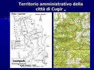 """Fig.1 """"La mappa fisica di Cugir - territorio amministrativo della città """""""