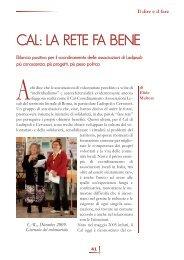 CAL: la rete fa bene di Elide Maltese - Volontariato Lazio