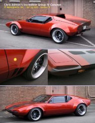 Chris Ashton's Incredible Group IV Concept - PI Motorsports
