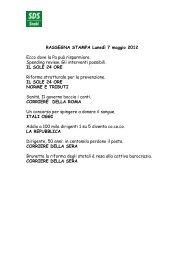 RASSEGNA STAMPA Lunedì 7 maggio 2012 Ecco ... - SDS Snabi