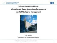 International Office - TUM School of Management - Technische ...