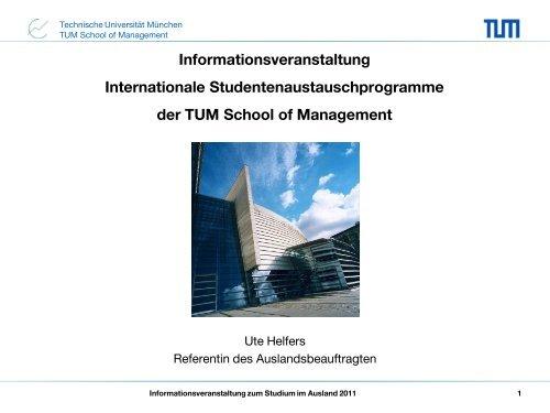 International Office - TUM School of Management - Technische ...