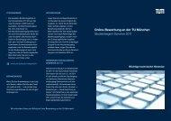 Online-Bewerbung an der TU München Studienbeginn Sommer 2011
