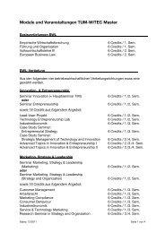 Module und Veranstaltungen TUM-WITEC Master - TUM School of ...