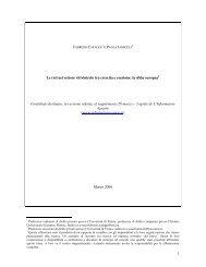 Le reti nel settore vitivinicolo tra crescita e coesione - dieresi diritto e ...
