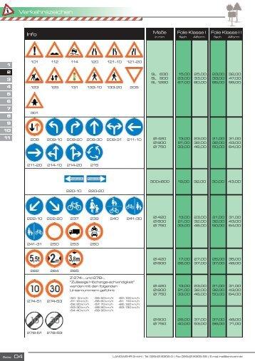 Verkehrszeichen - Landwehr