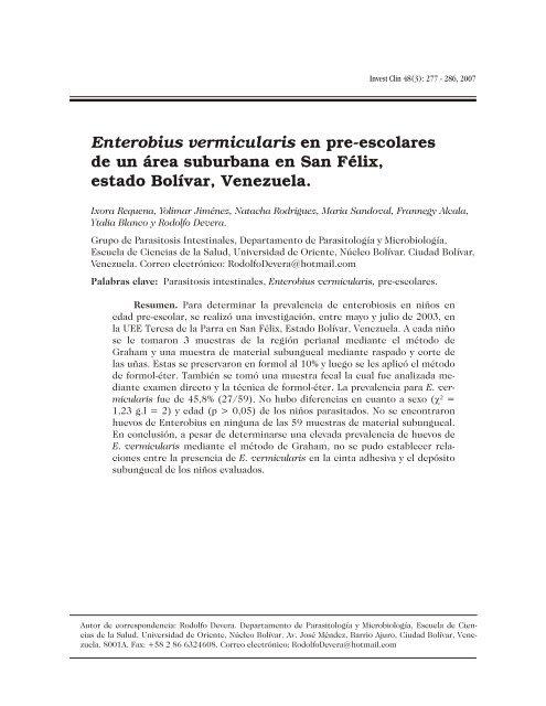 enterobius vermicularis scielo)