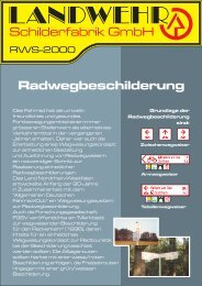 Preisübersicht für Radwegweiser - Landwehr