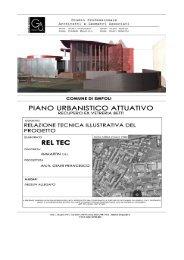 Relazione tecnica illustrativa di progetto - Comune di Empoli