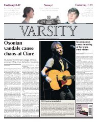 Oxonian vandals cause chaos at Clare - Varsity