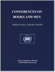 CONFERENCES ON BOOKS AND MEN - World eBook Library