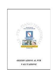 OSSERVAZIONI AL PTR VALUTAZIONE - Regione Campania