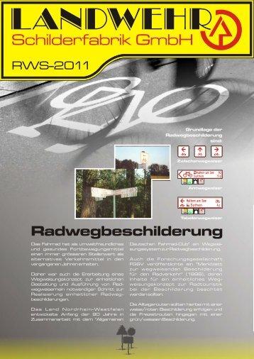 Radwegbeschilderung - Landwehr