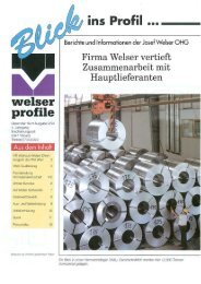Blick ins Profil 1994 - Ausgabe 03 - Welser Profile AG
