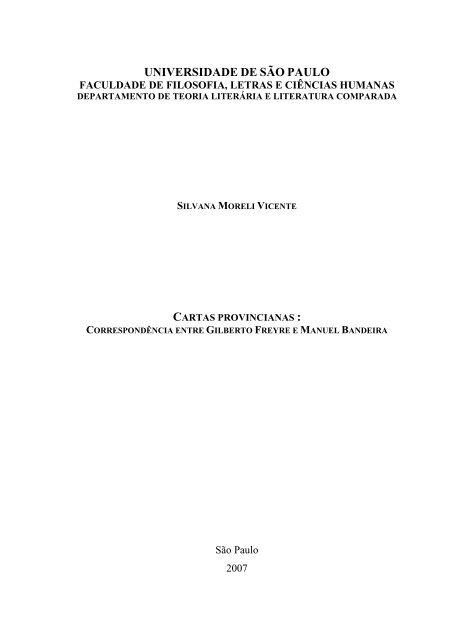 5efda012c correspondência entre Gilberto Freyre e Manuel Bandeira - capes