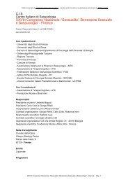 XXVIII Congresso Nazionale: 'Sessualita' - Psicologia-Psicoterapia.it