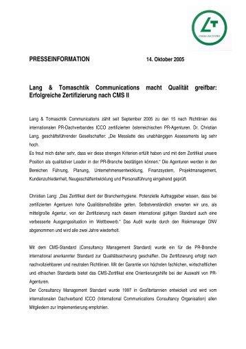 Erfolgreicher Abschluss der TSI Zertifizierung - Ahlers AG