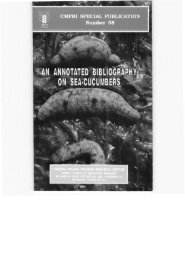 m ANNOTATED BIBLIOGRAPHY, ^ ON SEA-CUCUMBERS - Eprints ...