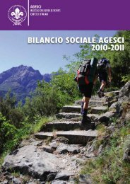 Bilancio Sociale 2010-2011 - Agesci