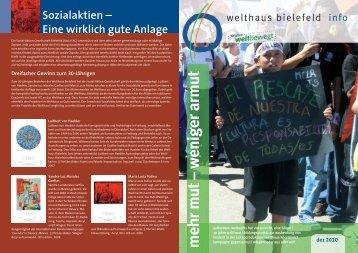 mehr mut – w eniger armut - Welthaus Bielefeld