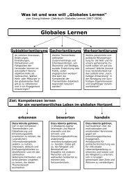 Was ist und was will Globales Lernen? - Welthaus Bielefeld