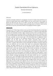 Zweiter Quartalsbericht aus Cajamarca - Welthaus Bielefeld