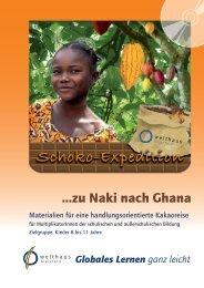 Materialien für eine handlungsorientierte Kakaoreise - Bildungs-Bags