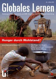 Hunger durch Wohlstand? - Globales Lernen