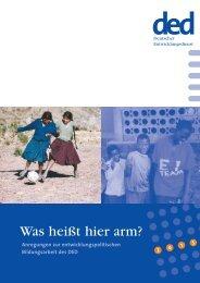 Was heißt hier arm? (pdf) - Bildung trifft Entwicklung