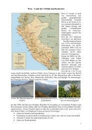 Einleitungstext weltwärts Peru Homepage - Welthaus Bielefeld