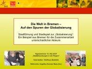 Die Welt in Bremen - Welthaus Bielefeld