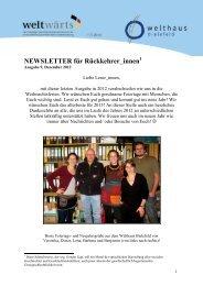 Ausgabe 9 - Welthaus Bielefeld