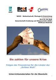 Sie zahlen für unsere Krise - Welthaus Bielefeld