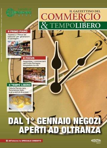dal 1° gennaio negozi aperti ad oltranza - Confesercenti Parma