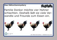 Arbeitsmaterial Hähnchen-Mystery - Bildungs-Bags