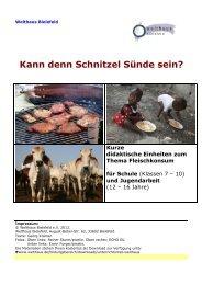 Kann denn Schnitzel Sünde sein? - Welthaus Bielefeld