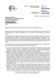 Brief FOKUS wegen Conga-Projekt - Welthaus Bielefeld
