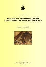 Činnost výboru v roce 2008 - Vědecký výbor fytosanitární a životního ...