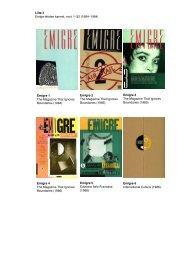 Emigre 1 The Magazine That Ignores Boundaries (1984) Emigre 2 ...